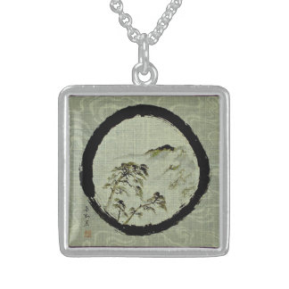 Collar de la plata esterlina del paisaje de Enso,
