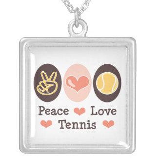 Collar de la plata esterlina del tenis del amor de