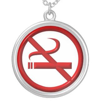 Collar de la plata esterlina: Símbolo de no fumado