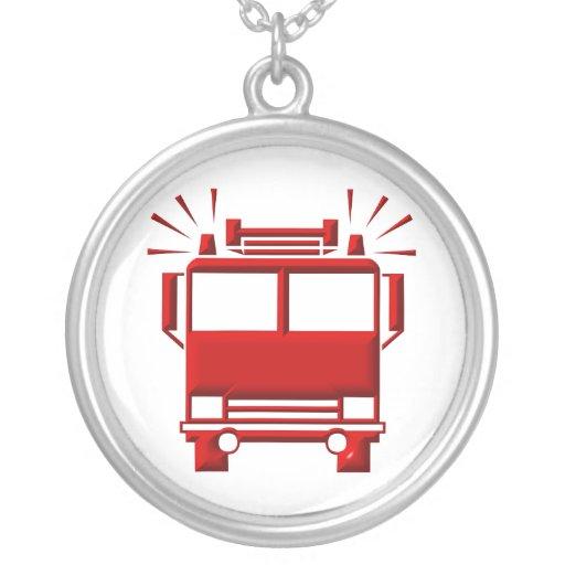 Collar de la plata esterlina: Símbolo del Firetruc