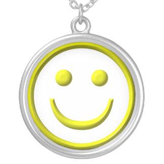 Collar de la plata esterlina: Símbolo sonriente de