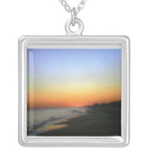 Collar de la puesta del sol de Emerald Isle