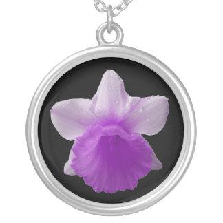 Collar de la púrpura del narciso del goteo