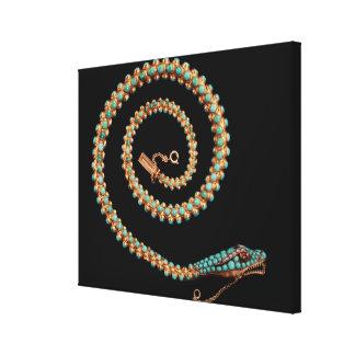 Collar de la serpiente, 1844 impresiones en lienzo estiradas