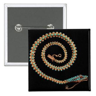 Collar de la serpiente, 1844 pin cuadrada 5 cm