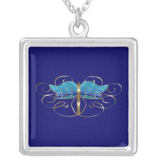 Collar de la tiara de la libélula del oro
