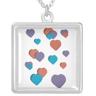 collar de los corazones 3D