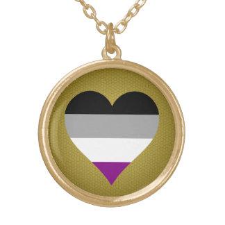 Collar de los corazones del orgullo del Asexuality