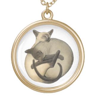 Collar de los gatos siameses de Yin Yang