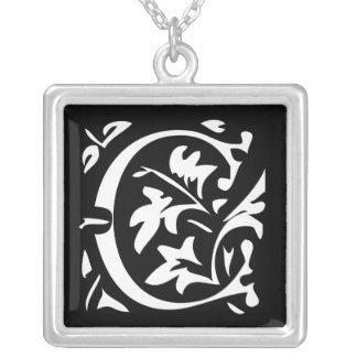 Collar de lujo del monograma del boda de la letra