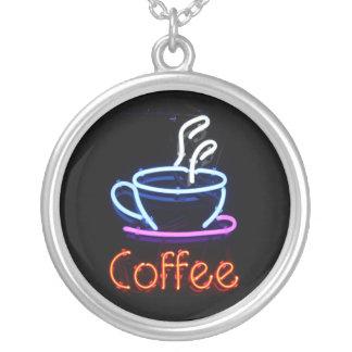 Collar de neón de la muestra del café