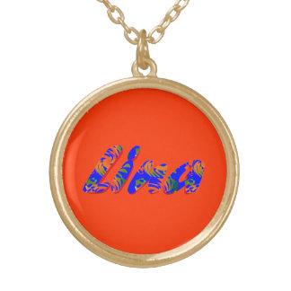 Collar de oro de Lina en a todo color