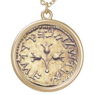 Collar de oro hebreo antiguo de la moneda