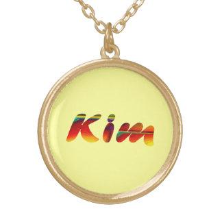 Collar de oro para Kim en amarillo