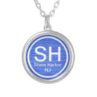 Collar de piedra SH de la playa del puerto NJ