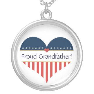 Collar de plata de abuelo orgulloso patriótico de