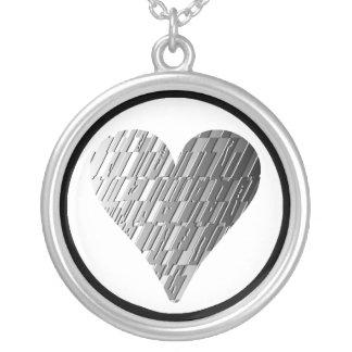 Collar de plata de acero del fragmento del metal