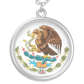 Collar de plata de Cinco de Mayo del escudo de arm