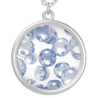 Collar de plata de la burbuja