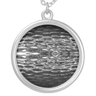 Collar de plata de la piedra preciosa