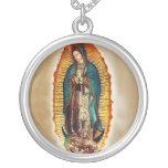 Collar de plata de Virgen de Guadalupe