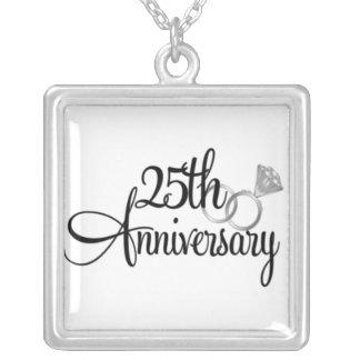 Collar de plata del aniversario del personalizado