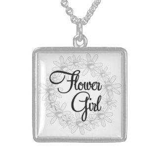 Collar de plata del florista para el regalo de Bri