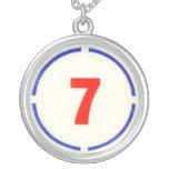Collar de plata pendiente divino del círculo