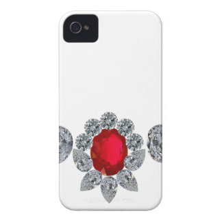 Collar de rubíes del miembro de la jet-set carcasa para iPhone 4 de Case-Mate