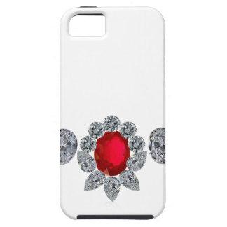 Collar de rubíes del miembro de la jet-set funda para iPhone SE/5/5s