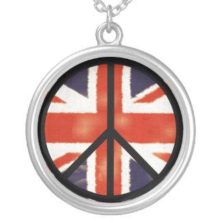 Collar de Sterling del signo de la paz de Union Ja
