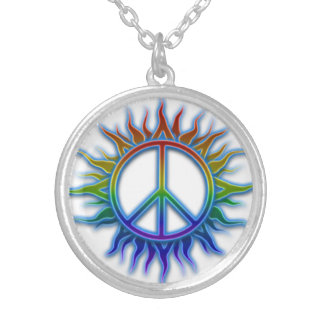 Collar de Sun del signo de la paz