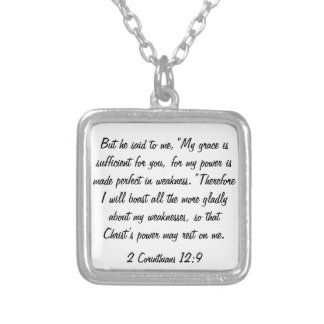 collar del 12:9 de los Corinthians del verso 2 de