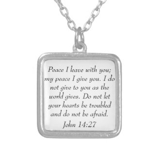 Collar del 14:27 de Juan del verso de la biblia de