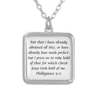 collar del 3:12 de los filipenses del verso de la