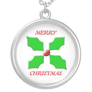 Collar del acebo de las Felices Navidad
