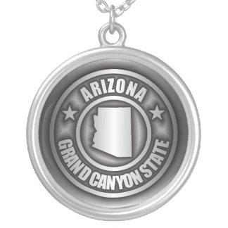 """""""Collar del acero de Arizona"""" Colgante Redondo"""
