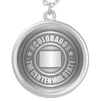 """""""Collar del acero de Colorado"""" Colgante Redondo"""
