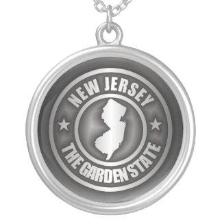 """""""Collar del acero de New Jersey"""" Collar Plateado"""