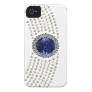 Collar del ahogador del zafiro de Diana Case-Mate iPhone 4 Protectores