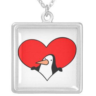 Collar del amante del pingüino