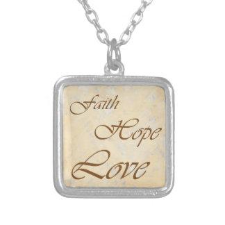 Collar del amor de la esperanza de la fe