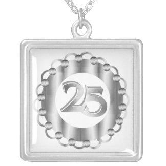 Collar del aniversario del personalizado 25