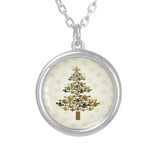 Collar del árbol de navidad de la flor de lis del