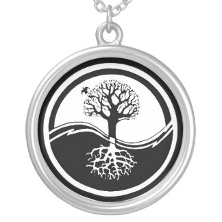 Collar del árbol de Yin Yang