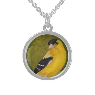 Collar del arte del pájaro del Goldfinch