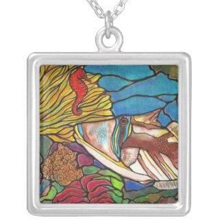 Collar del arte del vitral del Seahorse del Trigge