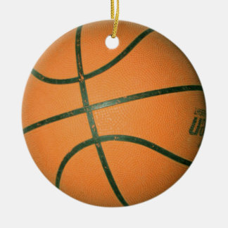 collar del baloncesto adorno navideño redondo de cerámica