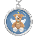 Collar del bebé del ángel del oso de peluche