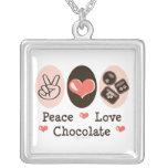 Collar del chocolate del amor de la paz